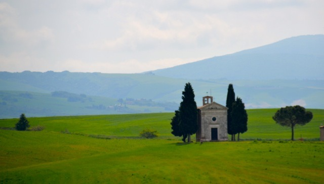 Landscape Pienza to Montalcino